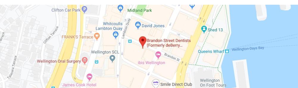 Brandon Street Dentists Map