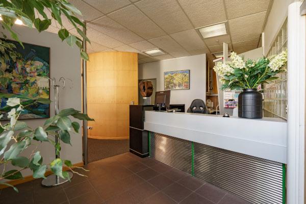 dental clinic's lobby area - Brandon Street Dentists